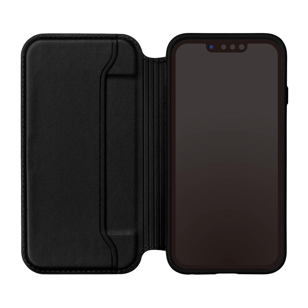 iPhone 13 Pro Max用 ガラスフリップケース [ミッキーマウス/ブラック]