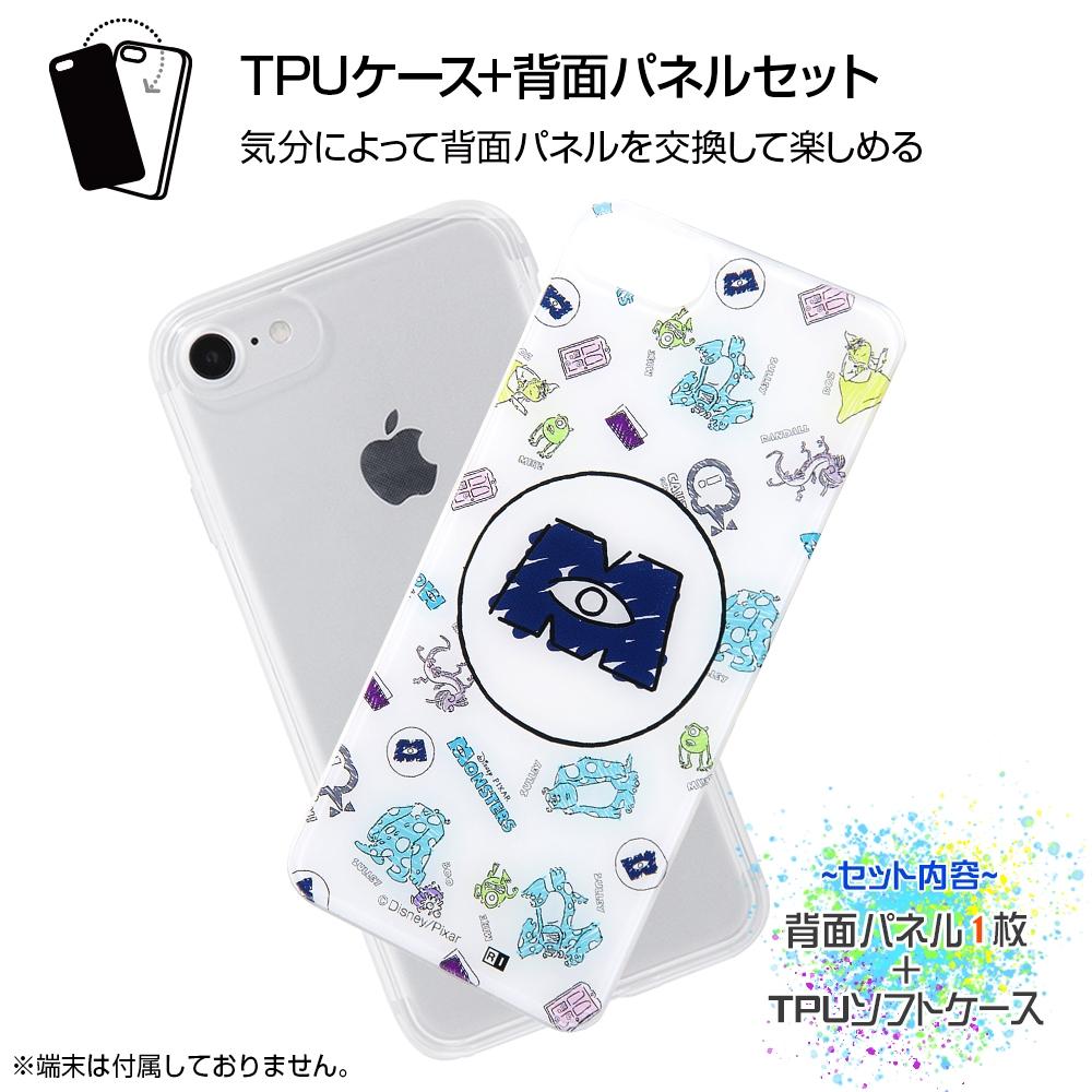 iPhone SE(第2世代)/8 / 7 /『モンスターズ・インク』/TPUケース+背面パネル/『モンスターズ・インク/お触り禁止』【受注生産】