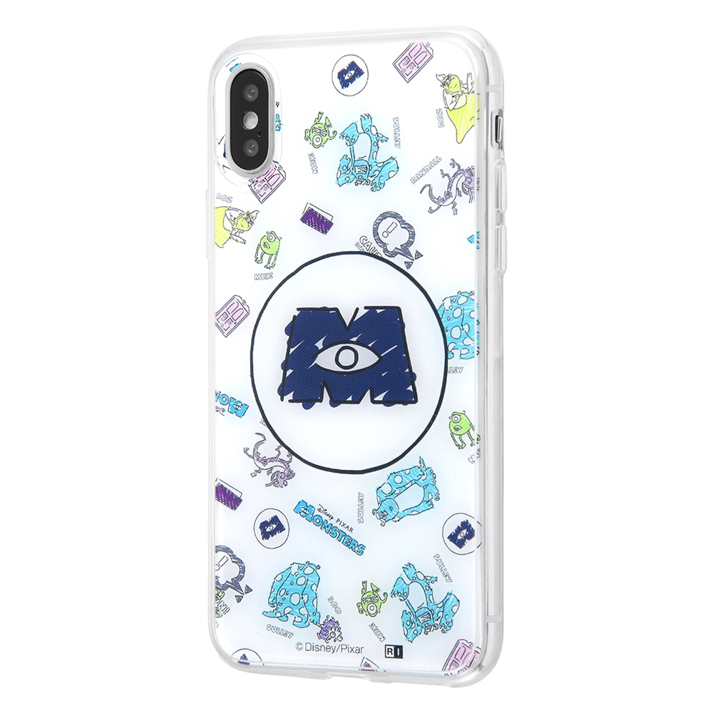 iPhone XS / X /『モンスターズ・インク』/TPUケース+背面パネル/『モンスターズ・インク/総柄』_01【受注生産】