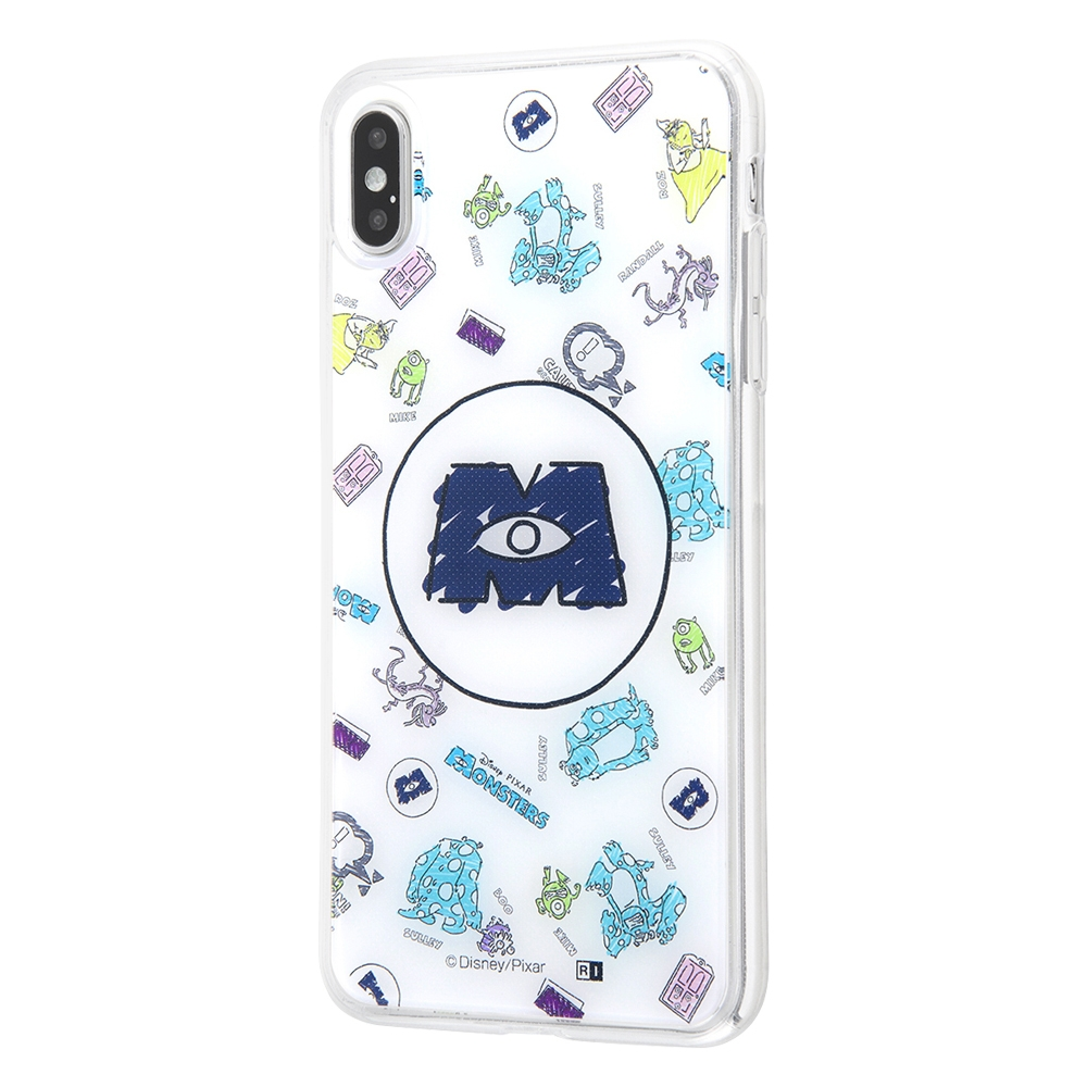 iPhone XS MAX /『モンスターズ・インク』/TPUケース+背面パネル/『モンスターズ・インク/総柄』_01【受注生産】