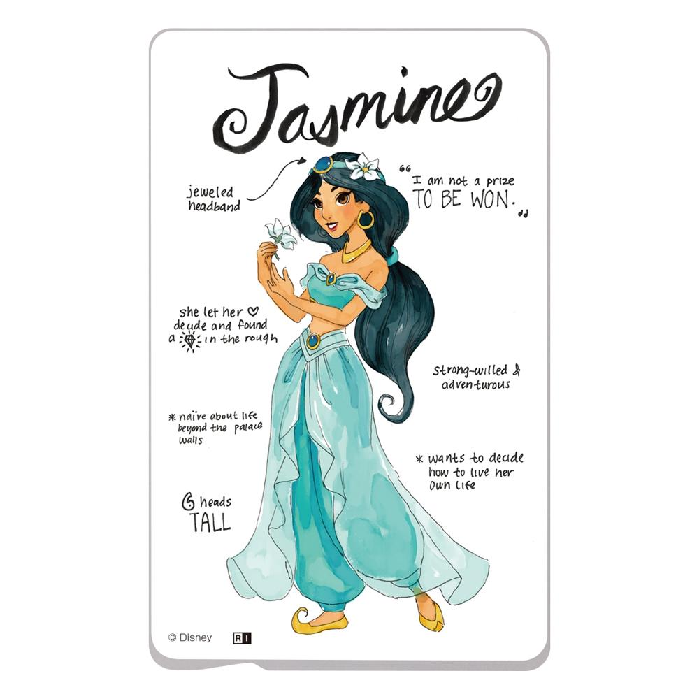 『ディズニーキャラクター』/ ICカード ステッカー/『プリンセスのプロフィール/ジャスミン』