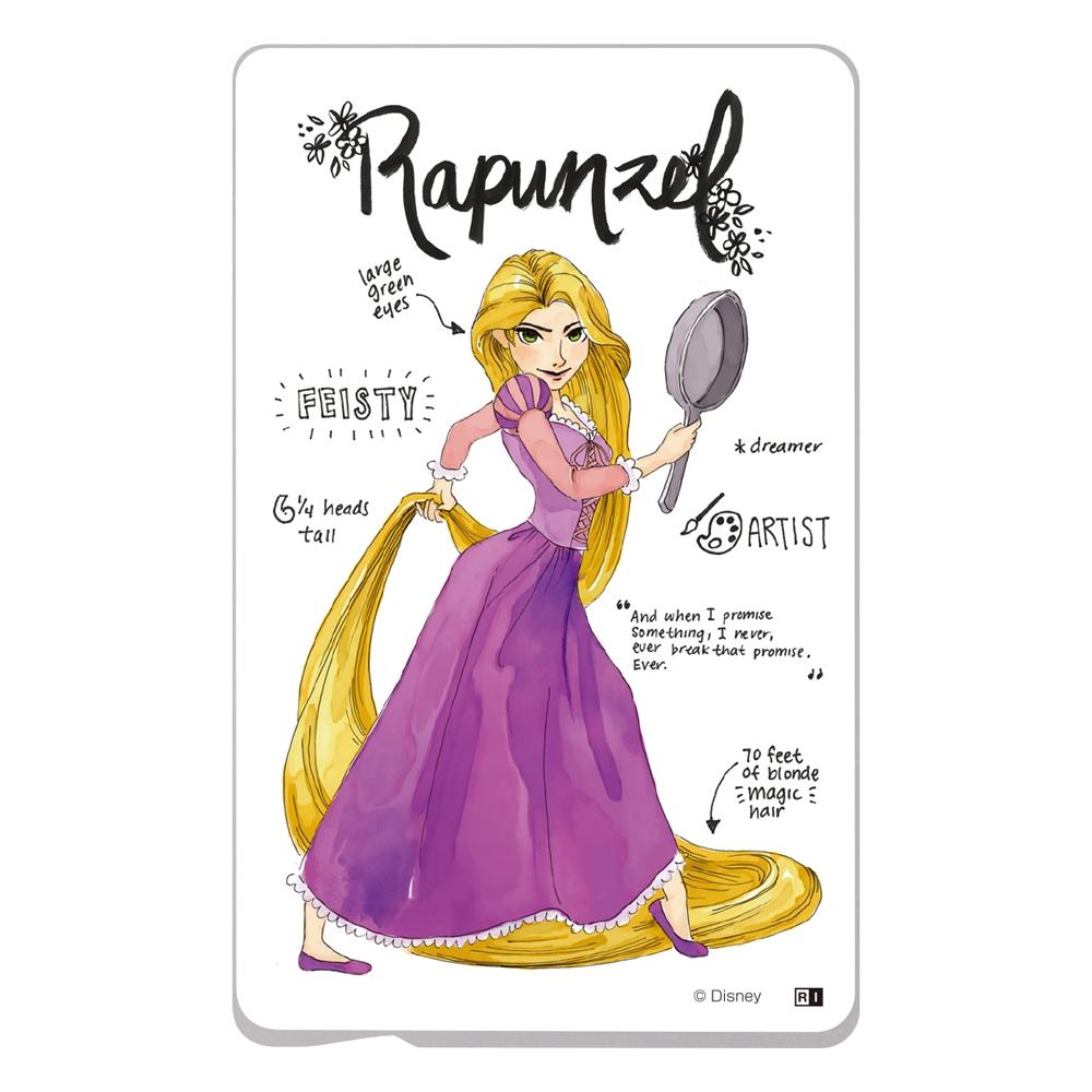 『ディズニーキャラクター』/ ICカード ステッカー/『プリンセスのプロフィール/ラプンツェル』