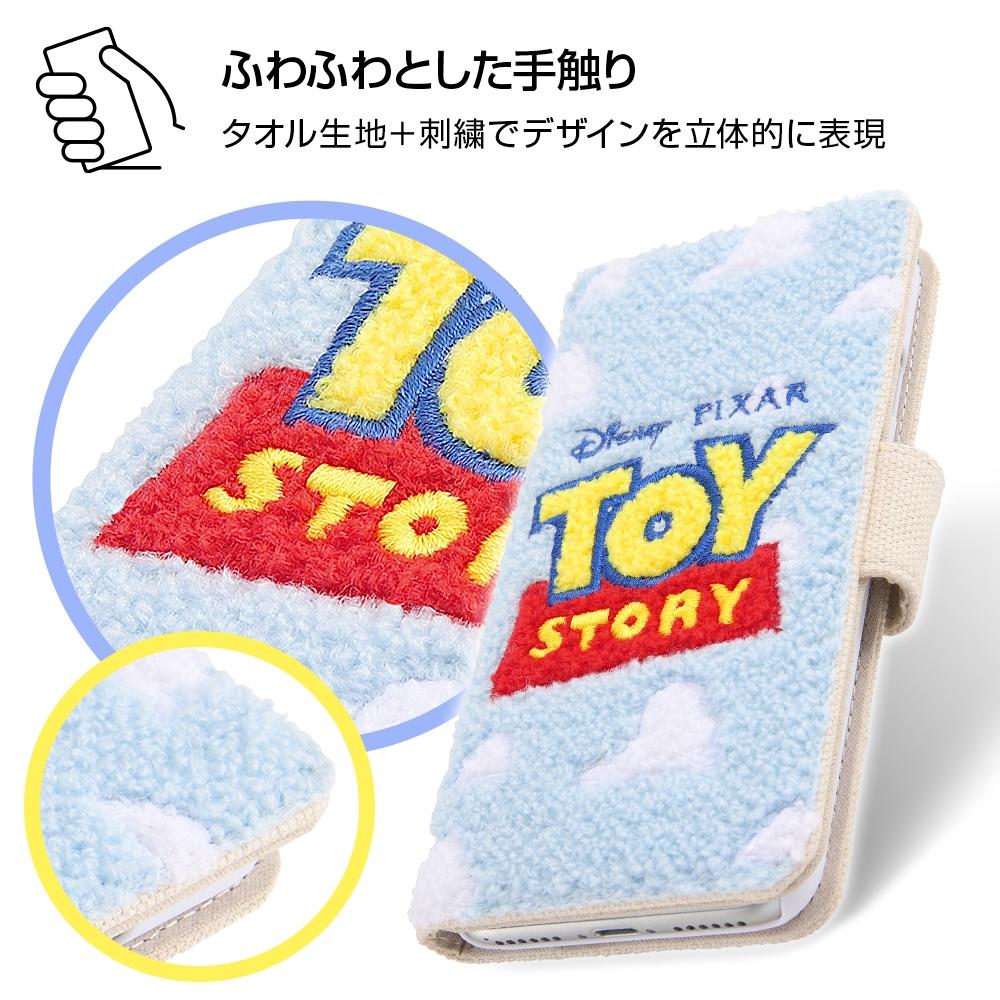 iPhone SE(第2世代)/8/7/6s/6 『ディズニー・ピクサーキャラクター』/サガラ刺繍 手帳型ケース 帆布/『トイ・ストーリー/ロゴ』
