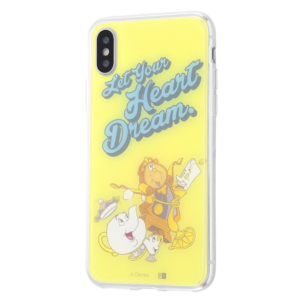 iPhone XS / X /『ディズニーキャラクター』/TPUケース+背面パネル/『美女と野獣/夢を教えて』【受注生産】