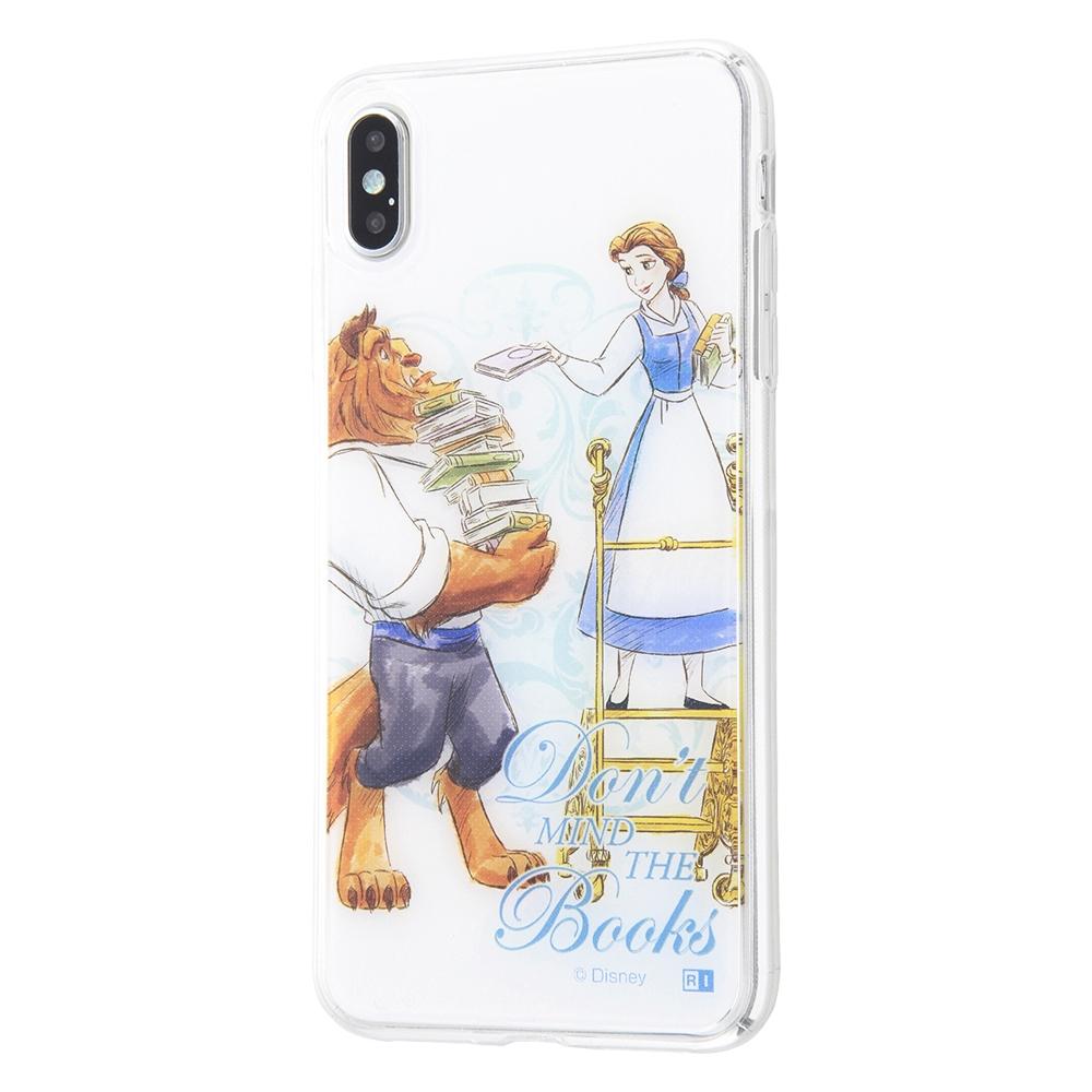 iPhone XS MAX /『ディズニーキャラクター』/TPUケース+背面パネル/『美女と野獣/ライブラリー』【受注生産】