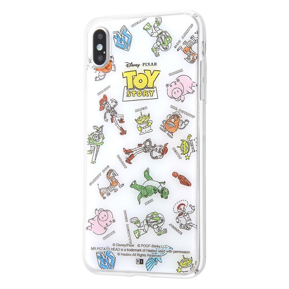 iPhone XS MAX /『トイ・ストーリー』/TPUケース+背面パネル/『トイ・ストーリー/総柄』【受注生産】