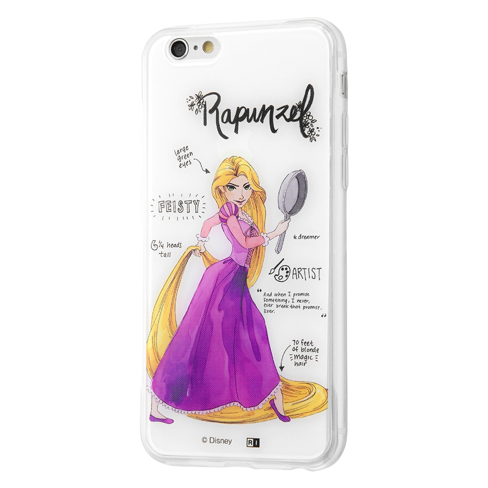 iPhone 6s / 6 /『ディズニーキャラクター』/TPUケース+背面パネル/『塔の上のラプンツェル/プリンセスのプロフィール』【受注生産】