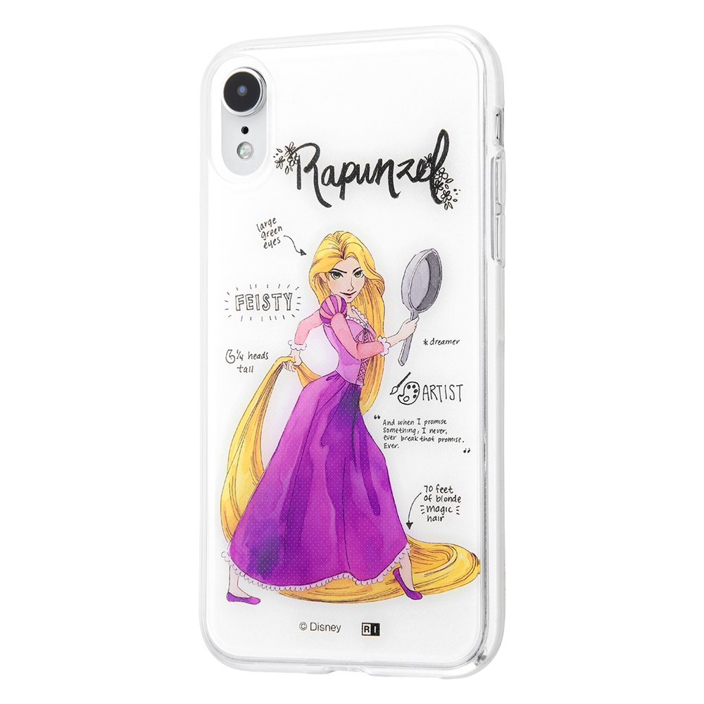 iPhone XR /『ディズニーキャラクター』/TPUケース+背面パネル/『塔の上のラプンツェル/プリンセスのプロフィール』【受注生産】
