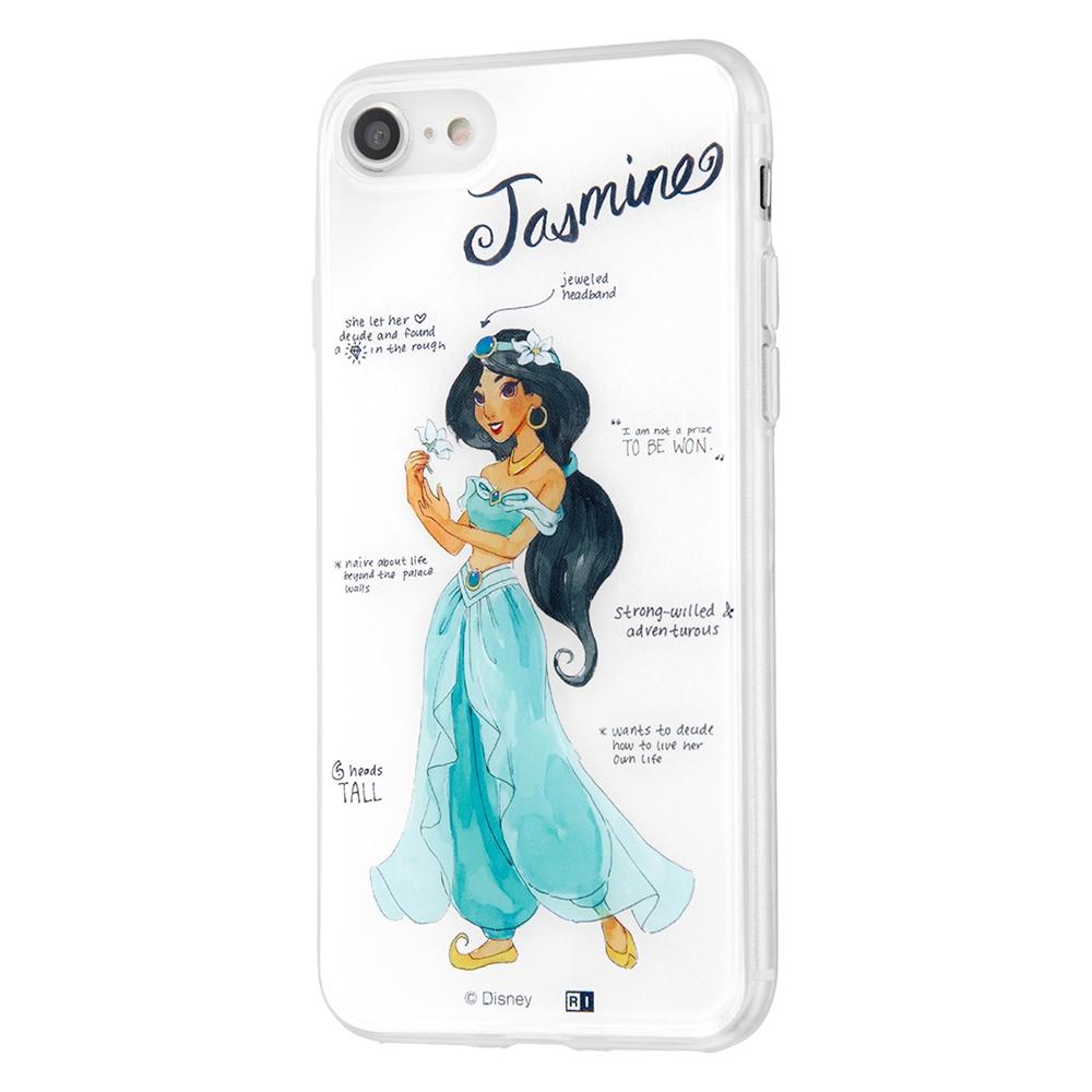 iPhone SE(第2世代)/8 / 7 /『ディズニーキャラクター』/TPUケース+背面パネル/『ジャスミン/プリンセスのプロフィール』【受注生産】