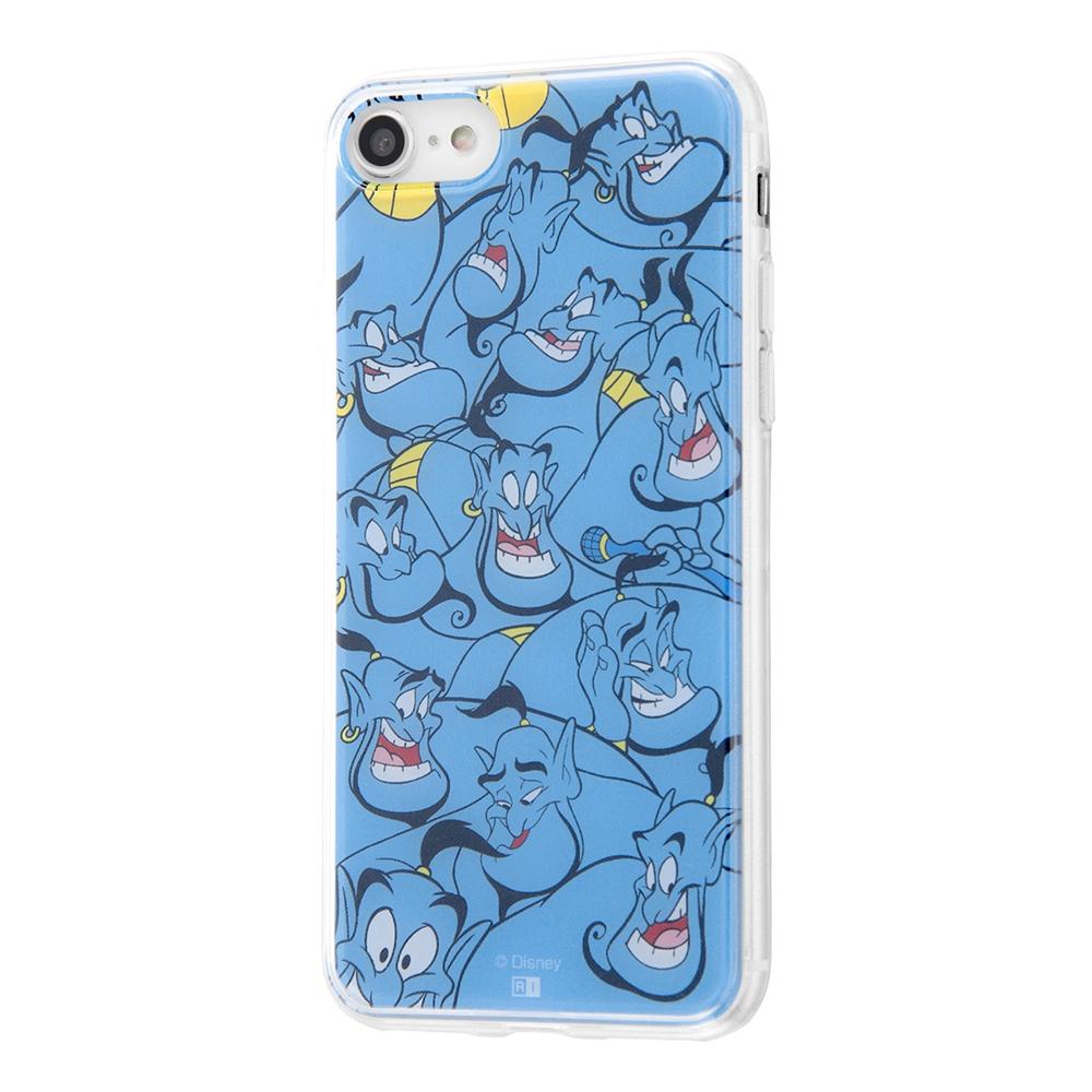 iPhone SE(第2世代)/8 / 7 /『ディズニーキャラクター』/TPUケース+背面パネル/『アラジン/総柄』【受注生産】