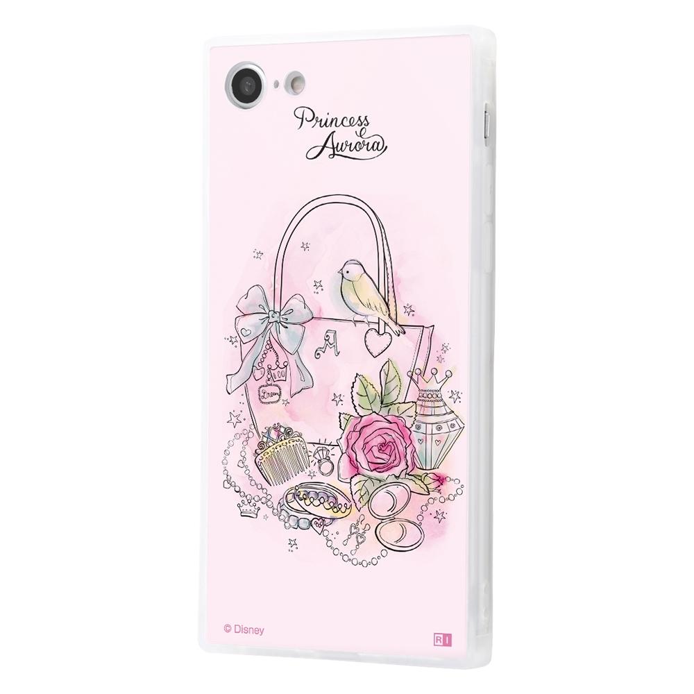 iPhone SE(第2世代)/8/7/『ディズニーキャラクター OTONA』/耐衝撃ガラスケース KAKU SILK/『オーロラ/OTONA Princess』【受注生産】