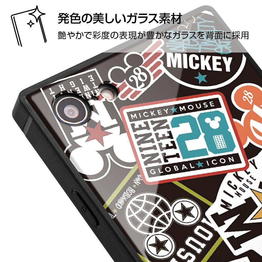 iPhone SE(第2世代)/8/7/『ディズニーキャラクター』/耐衝撃ガラスケース KAKU/『Collage/ブラック』_01【受注生産】