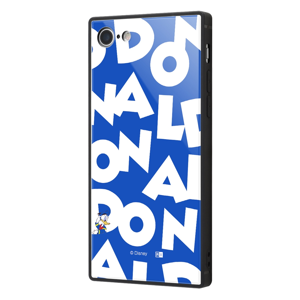 iPhone SE(第2世代)/8/7/『ディズニーキャラクター』/耐衝撃ガラスケース KAKU/『ドナルドダック/I AM』【受注生産】