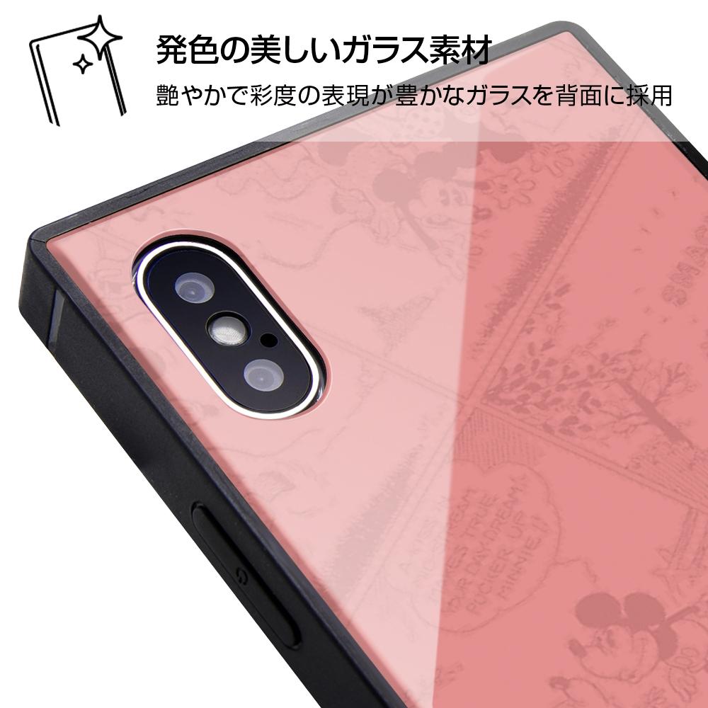 iPhone XS / X /『ディズニーキャラクター OTONA』/耐衝撃ガラスケース KAKU/『ミニーマウス』_31【受注生産】