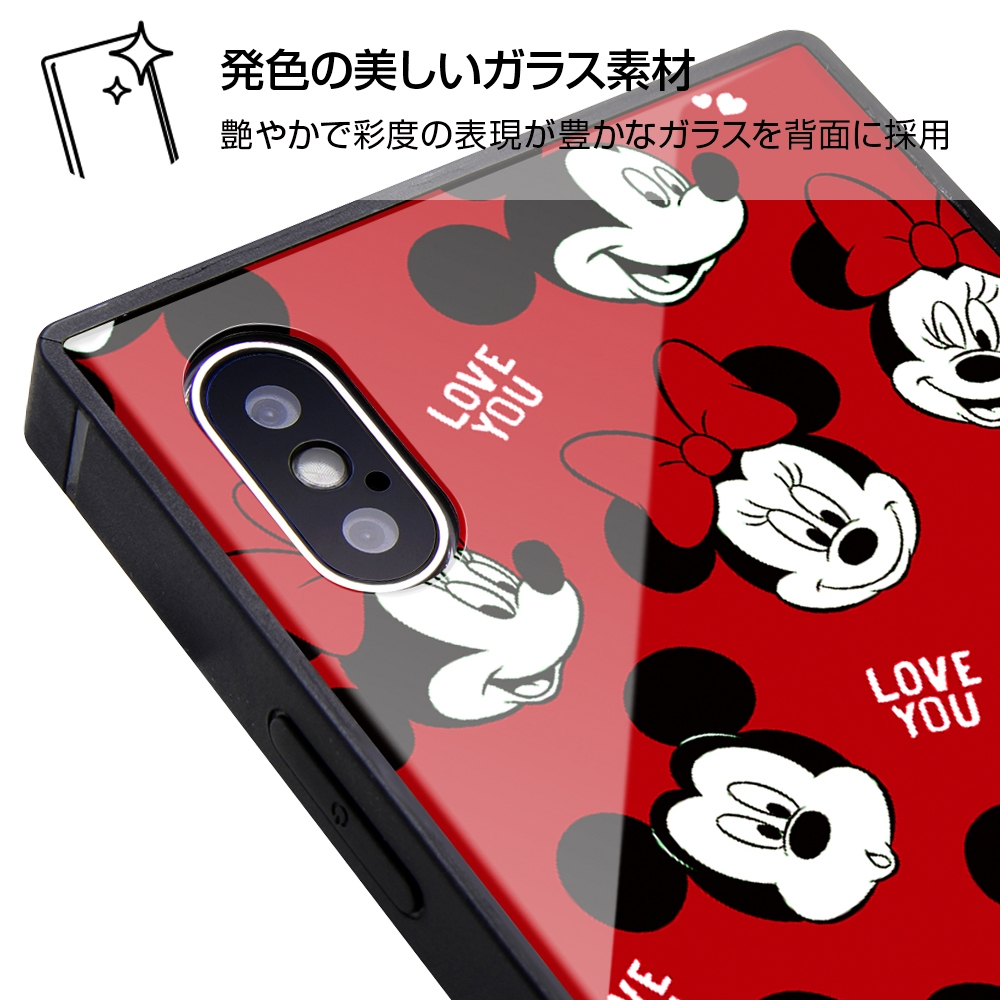 iPhone XS / X /『ディズニーキャラクター』/耐衝撃ガラスケース KAKU/『with a smile』_6【受注生産】