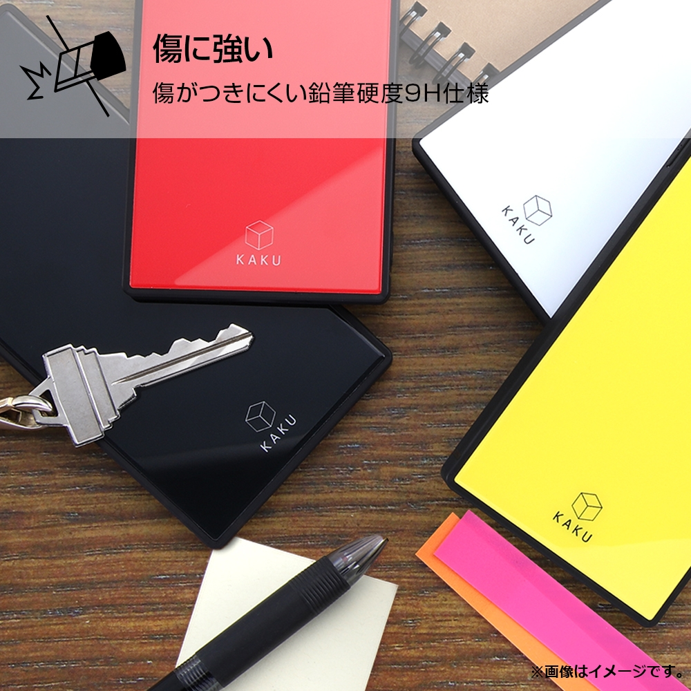 iPhone XS / X /『ディズニーキャラクター』/耐衝撃ガラスケース KAKU/『ミッキーマウス/I AM』【受注生産】