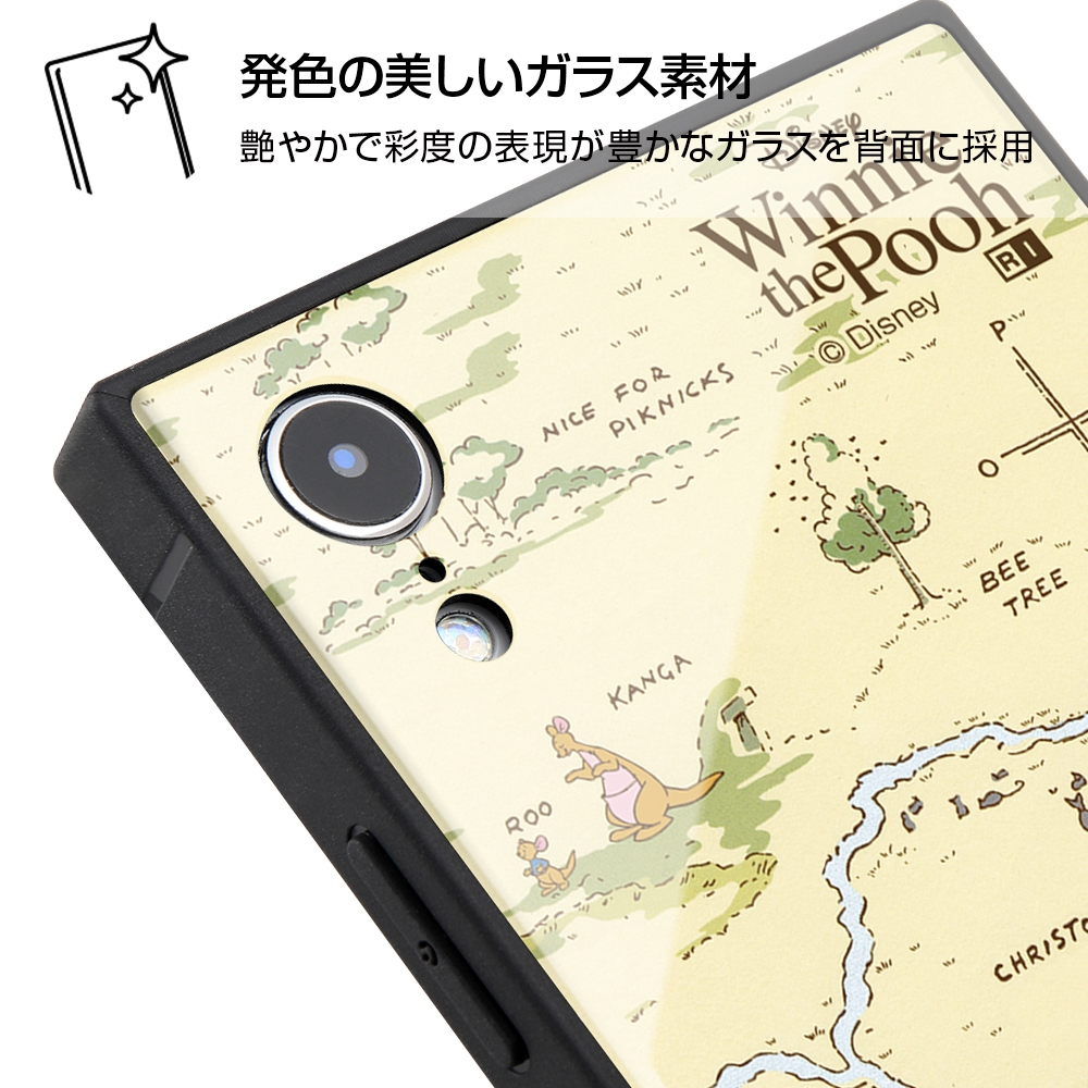 iPhone XR /『ディズニーキャラクター』/耐衝撃ガラスケース KAKU/『くまのプーさん』_33【受注生産】