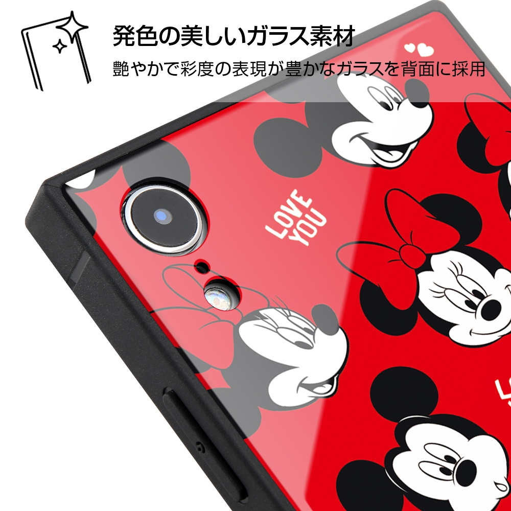iPhone XR /『ディズニーキャラクター』/耐衝撃ガラスケース KAKU/『with a smile』_6【受注生産】