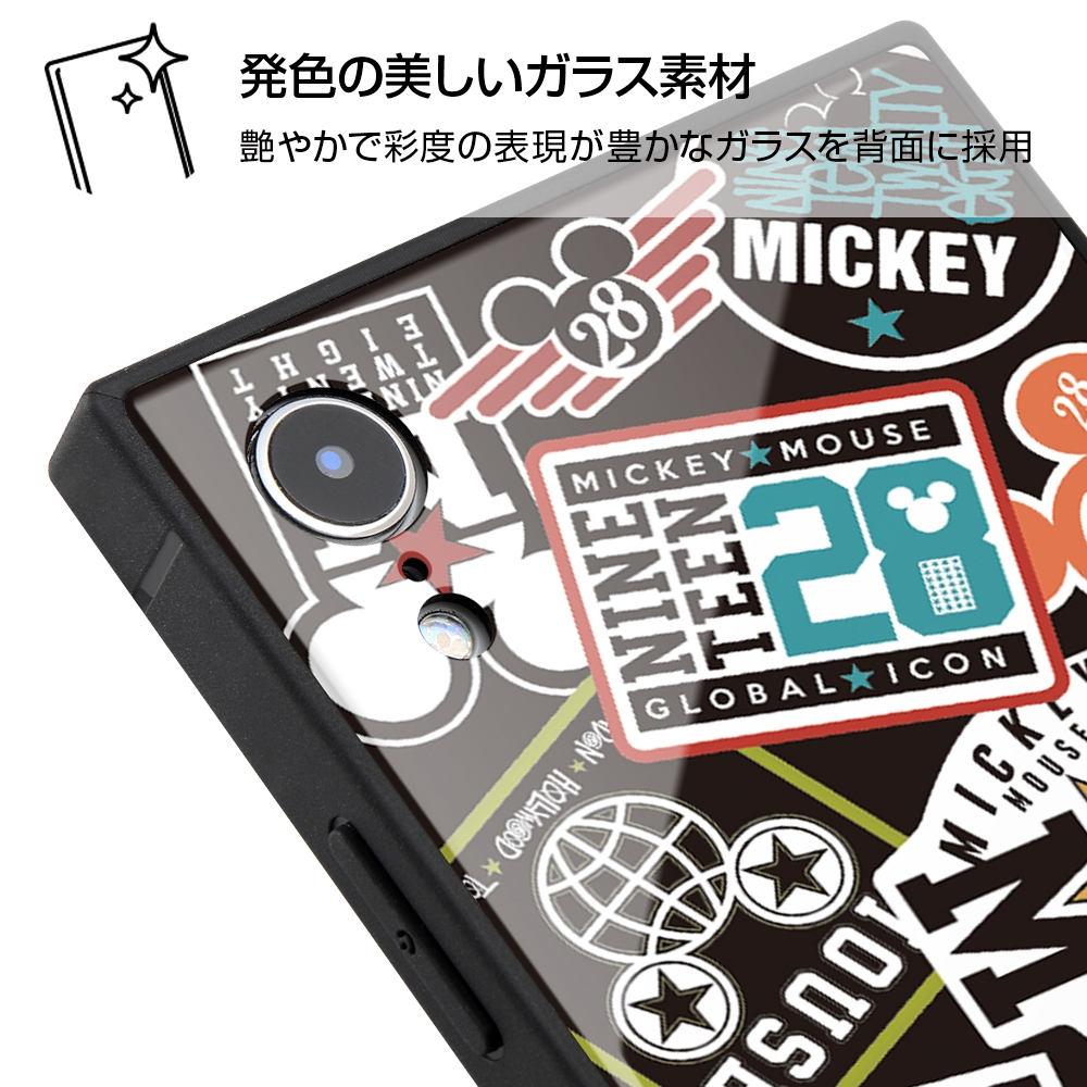 iPhone XR /『ディズニーキャラクター』/耐衝撃ガラスケース KAKU/『Collage/ブラック』_01【受注生産】
