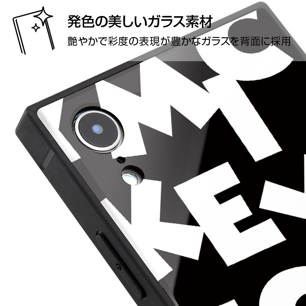 iPhone XR /『ディズニーキャラクター』/耐衝撃ガラスケース KAKU/『ミッキーマウス/I AM』【受注生産】