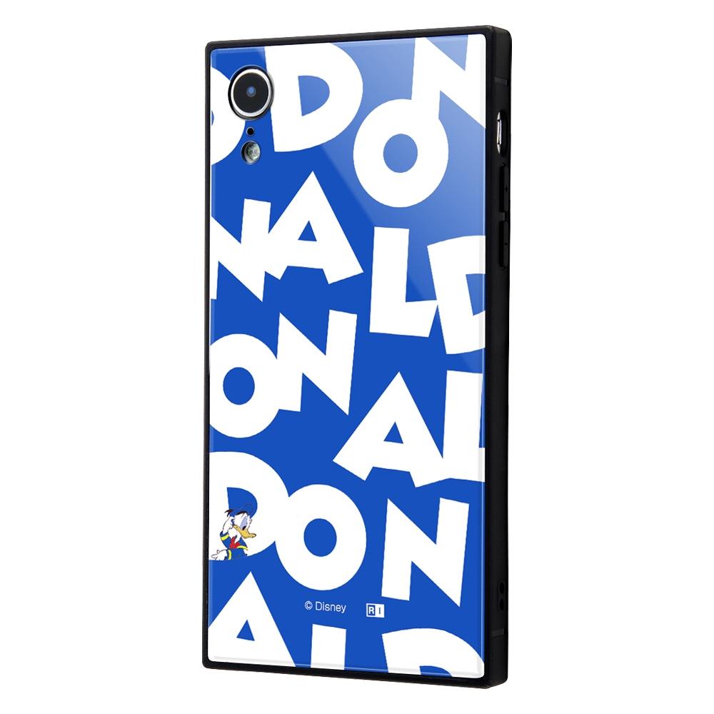 iPhone XR /『ディズニーキャラクター』/耐衝撃ガラスケース KAKU/『ドナルドダック/I AM』【受注生産】