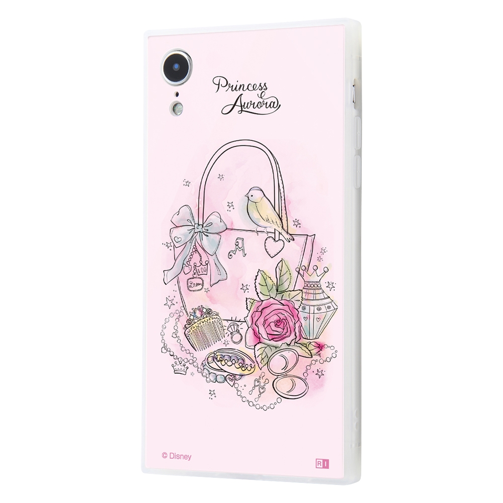 iPhone XR /『ディズニーキャラクター OTONA』/耐衝撃ガラスケース KAKU SILK/『オーロラ/OTONA Princess』【受注生産】