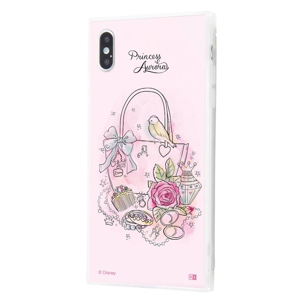 iPhone XS Max /『ディズニーキャラクター OTONA』/耐衝撃ガラスケース KAKU SILK/『オーロラ/OTONA Princess』【受注生産】