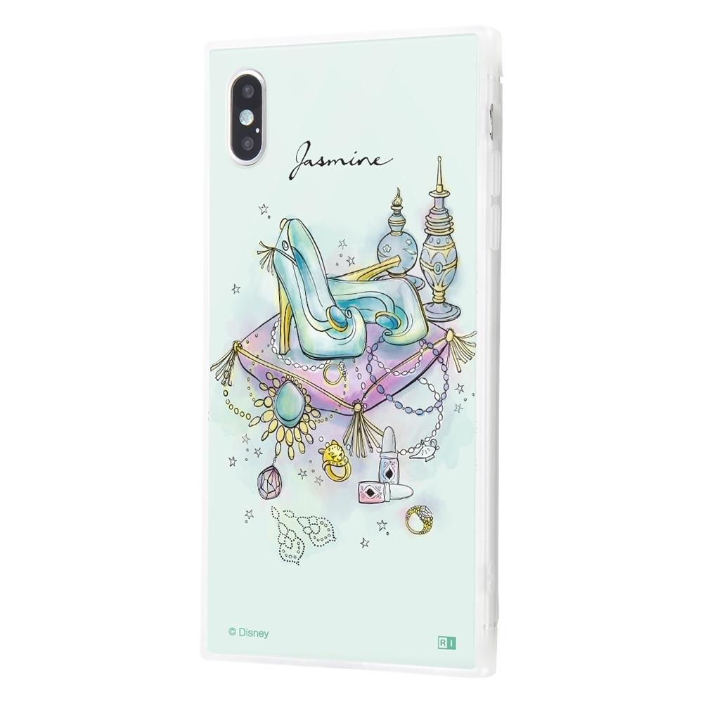 iPhone XS Max /『ディズニーキャラクター OTONA』/耐衝撃ガラスケース KAKU SILK/『ジャスミン/OTONA Princess』【受注生産】