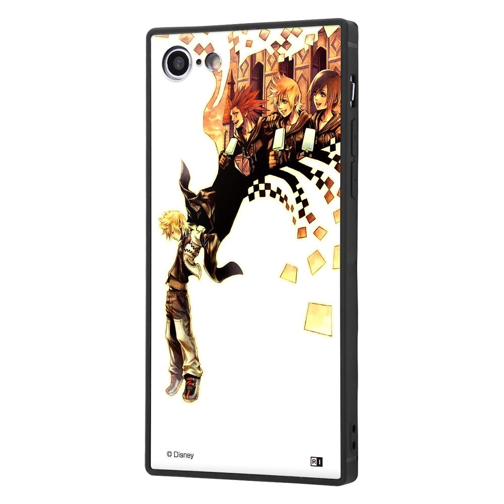 iPhone SE(第2世代)/8/7/『キングダムハーツ』/耐衝撃ガラスケース KAKU SILK/『キングダムハーツ/ジャケット』【受注生産】