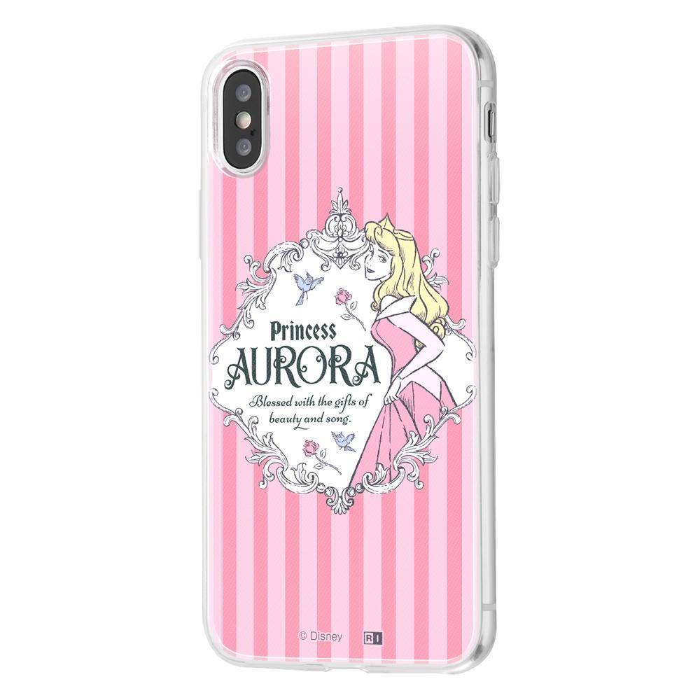 iPhone XS / X /『ディズニーキャラクター』/TPUケース+背面パネル/『眠れる森の美女/2つのドレス』【受注生産】