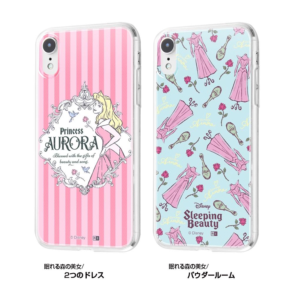 iPhone XR /『ディズニーキャラクター』/TPUケース+背面パネル/『眠れる森の美女/パウダールーム』【受注生産】