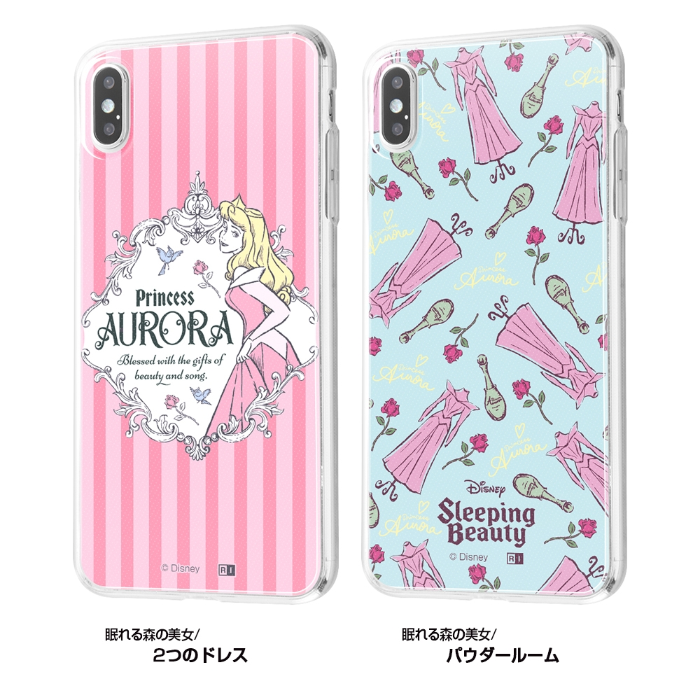 iPhone XS Max /『ディズニーキャラクター』/TPUケース+背面パネル/『眠れる森の美女/2つのドレス』【受注生産】