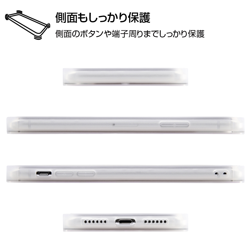 iPhone XS / X /『ディズニーキャラクター』/耐衝撃ガラスケース KAKU/『くまのプーさん/ボタニカル』_01【受注生産】