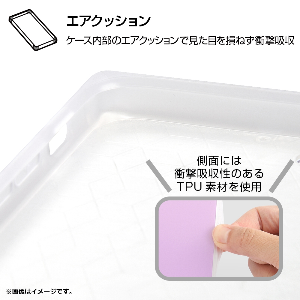 iPhone SE(第2世代)/8/7/『ディズニーキャラクター』/耐衝撃ガラスケース KAKU/『ミニーマウス/OTONA PINK』【受注生産】
