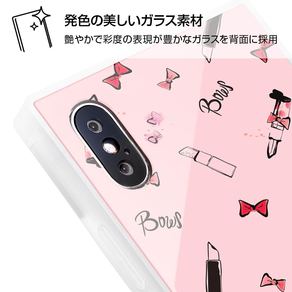 iPhone XS / X /『ディズニーキャラクター』/耐衝撃ガラスケース KAKU/『ミニーマウス/OTONA PINK』【受注生産】