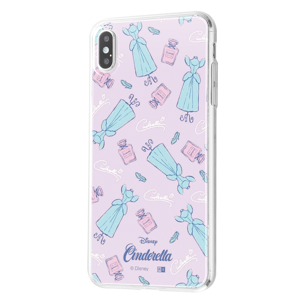 iPhone XS Max /『ディズニーキャラクター』/TPUケース+背面パネル/『シンデレラ/パウダールーム』【受注生産】