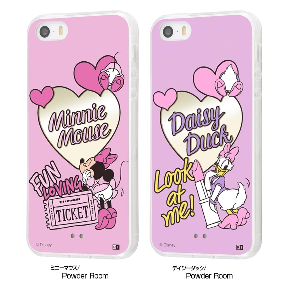 iPhone SE / 5s / 5 /『ディズニーキャラクター』/ハイブリッドケースミラー/『ミニーマウス/Powder Room』【受注生産】