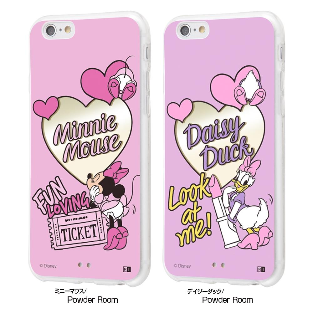 iPhone 6s / 6 /『ディズニーキャラクター』/ハイブリッドケースミラー/『ミニーマウス/Powder Room』【受注生産】