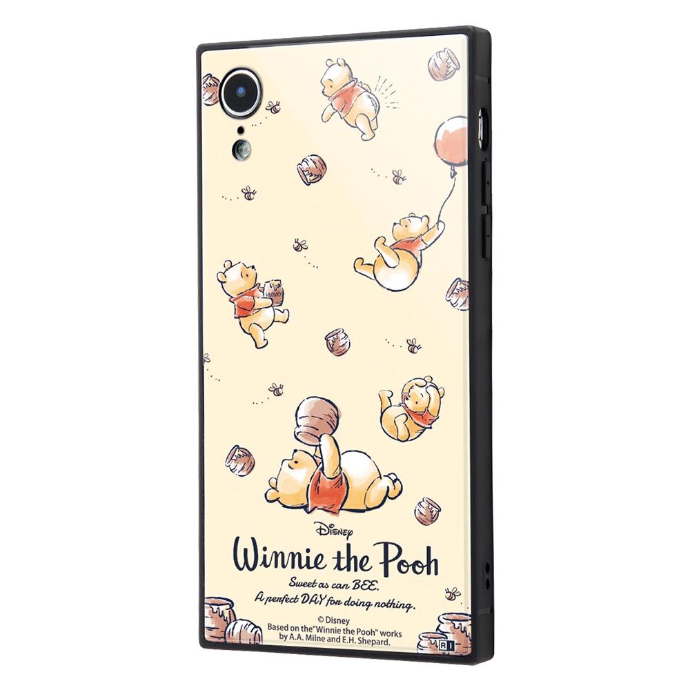 iPhone XR /『ディズニーキャラクター』/耐衝撃ガラスケース KAKU/『くまのプーさん/Perfect Day』【受注生産】