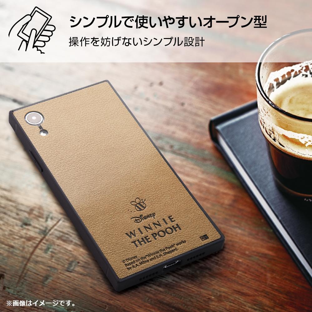 iPhone XR 『ディズニーキャラクター』/耐衝撃オープンレザーケース KAKU/ミッキー