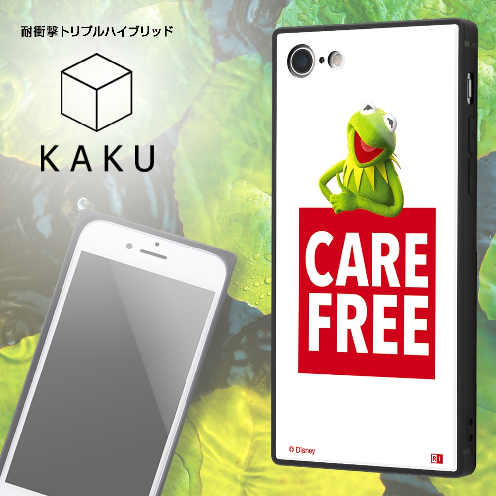 iPhone SE(第2世代)/8/ 7 /『マペッツ』/耐衝撃ケース KAKU トリプルハイブリッド/『カーミット/Care free』_3【受注生産】