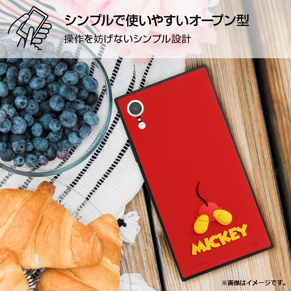 iPhone XR 『ディズニーキャラクター』/耐衝撃ハイブリッド シリコン KAKU/ミッキー