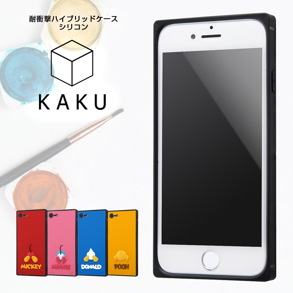 iPhone SE(第2世代)/8/7 『ディズニーキャラクター』/耐衝撃ハイブリッド シリコン KAKU/ミッキー