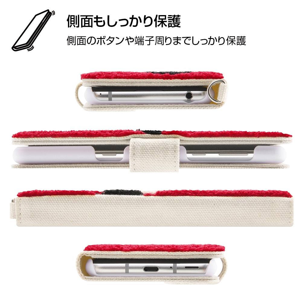 AQUOS R3 『ディズニーキャラクター』/手帳型ケース サガラ刺繍/ミニー
