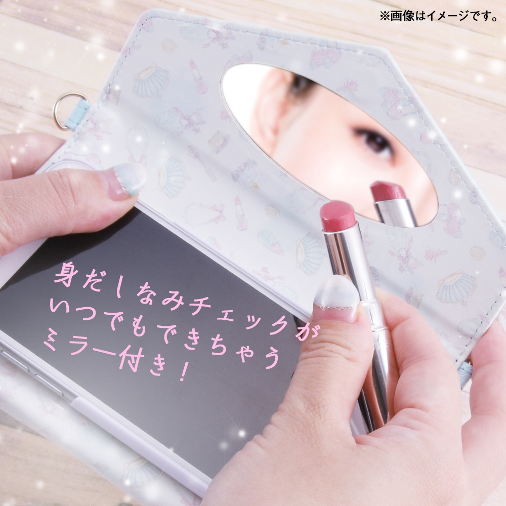 Xperia 1 『ディズニーキャラクタープリンセス』/手帳型レザーケース Collet チャーム+ストラップ付き/ベル