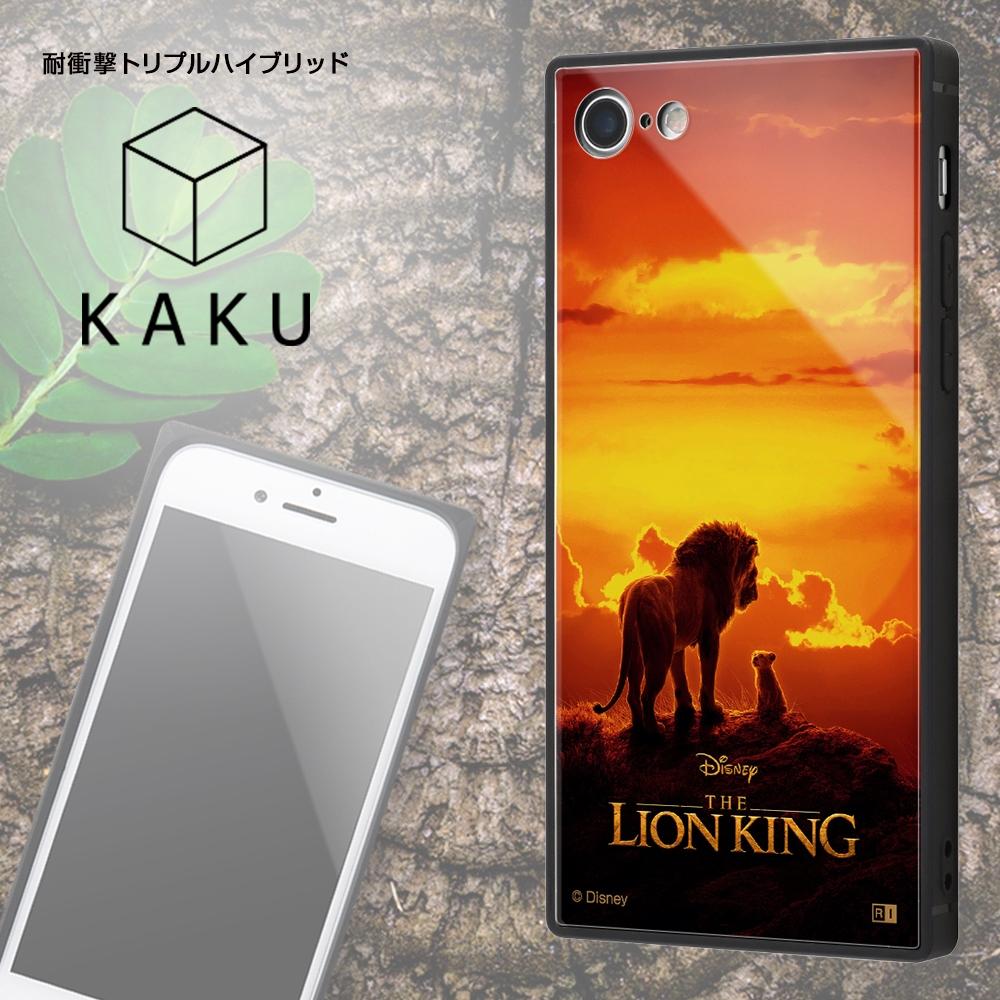 iPhone SE(第2世代)/8/ 7 /「ディズニーアニメーション『ライオン・キング』」/耐衝撃ケース KAKU トリプルハイブリッド/『ライオン・キング/総柄』_01【受注生産】