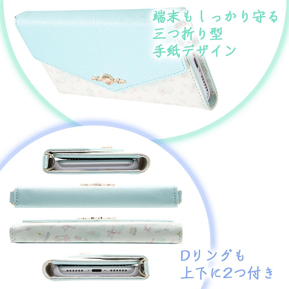 リトル・マーメイド iPhone 6/6s/7/8/SE(第2世代)用スマホケース・カバー 手帳型 レザー Collet チャーム+ストラップ付き