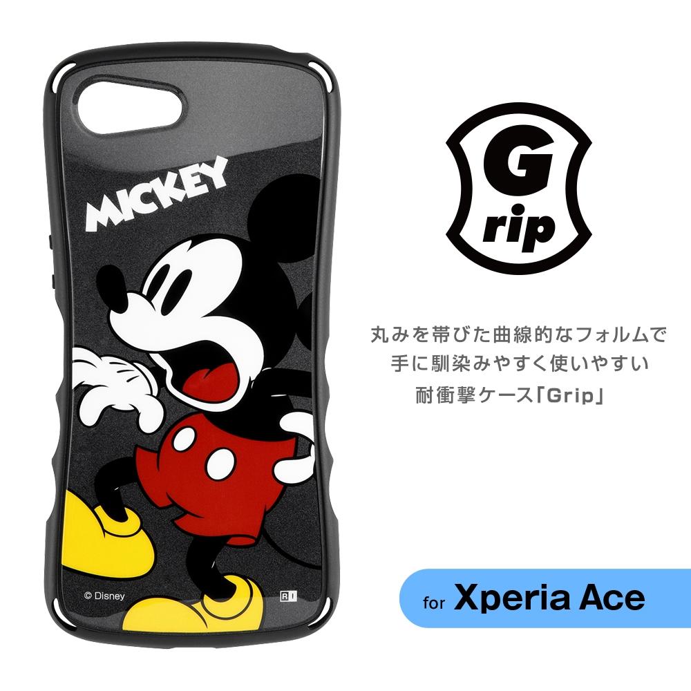 Xperia Ace 『ディズニーキャラクター』/耐衝撃ケース Grip/ミッキー