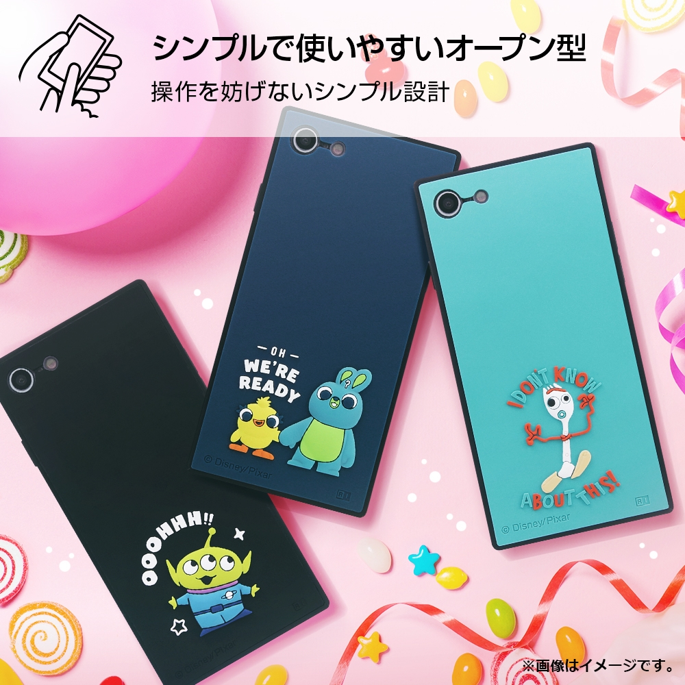 iPhone SE(第2世代)/8/ 7  『ディズニー・ピクサーキャラクター』/耐衝撃ハイブリッド シリコン KAKU/ 『トイ・ストーリー/ダッキー&バニー』