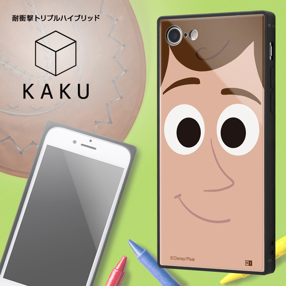 iPhone SE(第2世代)/8/ 7 /『ディズニー・ピクサーキャラクター』/耐衝撃ケース KAKU トリプルハイブリッド/『トイ・ストーリー/ウッディ』【受注生産】